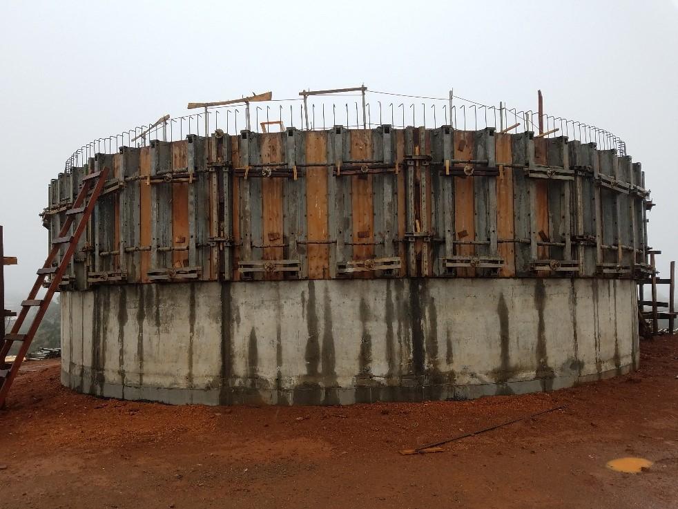 Projet CC54 – Réservoir d'eau à Bangoua